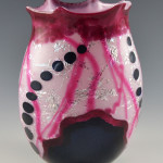 Pink and Blue Glass Vase